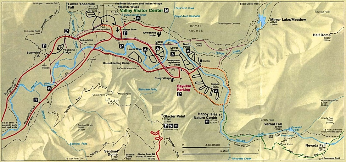 Camping Info Maps Amp Trails Yosemite National Park